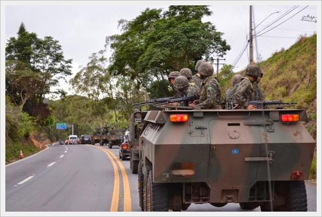 O exercito brasileiro em ação